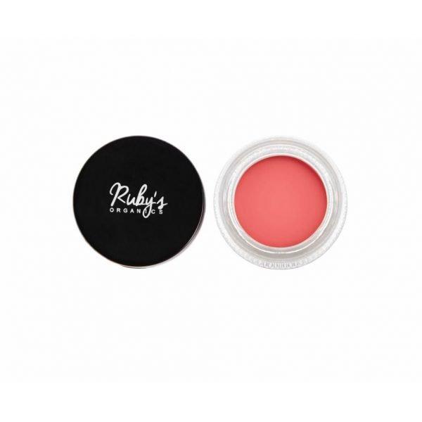 Ruby's Organics Creme Blush - Poppy Pink colour shade cheeks makeup blush organic rosy tone