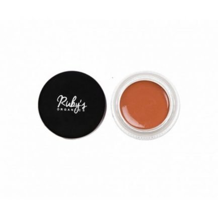 Ruby's Organics Creme Blush - Tan brown shade eyes glitter cheeks face makeup organic