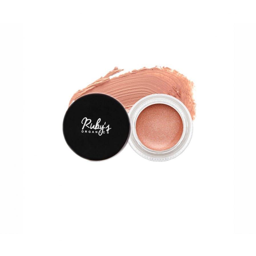 Ruby's Organics Creme Highlighter - Illuminate peach tone shade blush eyes lips cheek highlight makeup pretty