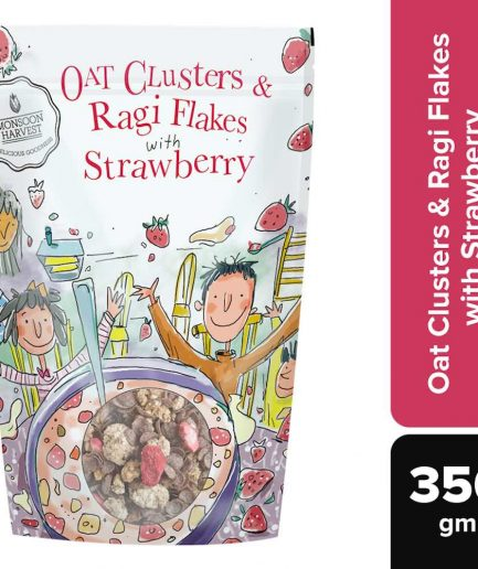 Monsoon Harvest Oat Clusters & Ragi Flakes with Strawberry (350gm)