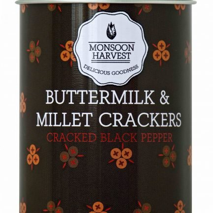 Monsoon Harvest Buttermilk & Millet Crackers - Cracked Black Pepper (100gm)