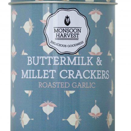 Monsoon Harvest Buttermilk & Millet Crackers - Roasted Garlic (100gm)