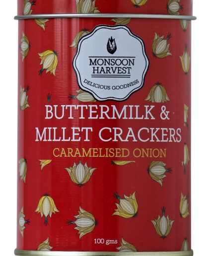 Monsoon Harvest Buttermilk & Millet Crackers - Caramelised Onion (100gm)