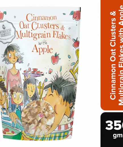 Monsoon Harvest Cinnamon Oat Clusters & Multigrain Flakes with Apple (350gm)