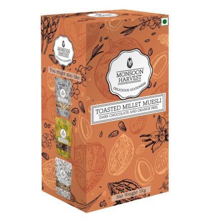 Monsoon Harvest Toasted Millet Muesli Dark Chocolate and Orange Peel (1 Kg)
