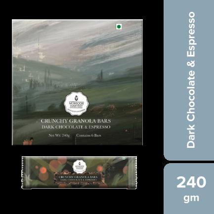 Monsoon Harvest Crunchy Millet Granola Bars - Dark Chocolate & Espresso (Pack of 6)