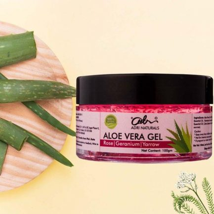 Adri Naturals Aloe Vera Gel - Rose, Geranium & Yarrow (Suitable for Dry Skin)