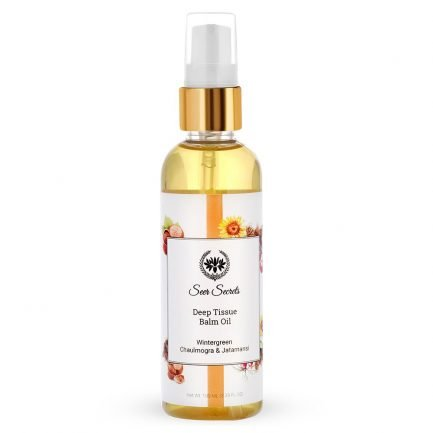 Seer Secrets Wintergreen, Chaulmogra & Jatamansi Deep Tissue Balm Massage Oil (100ml)