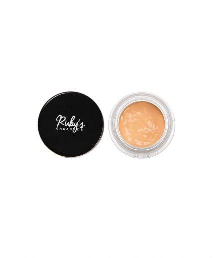 Ruby's Organics Concealer C2 fair medium shade skin tones makeup vegan cosmetics india moisturize smooth blend