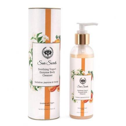 Seer Secrets Sedative Jasmine & Orange Soothing Yogurt Enzyme Body Cleanser wash