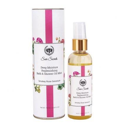 Seer Secrets Deep Moisture Replenishing Bath & Shower Oil with Smoky Rose Geranium