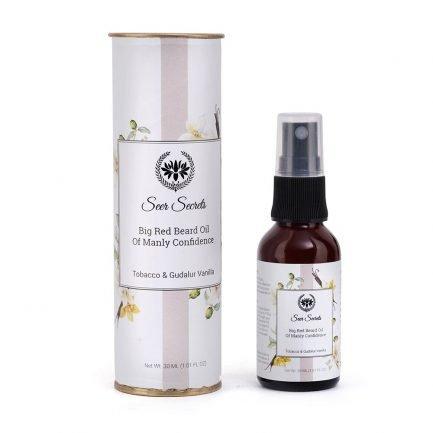 Seer Secrets Big Red Beard Oil with Tobacco & Gudalur Vanilla