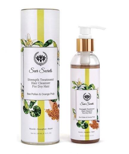 Seer Secrets Strength Treatment Hair Cleanser with Bee Pollen & Orange Pulp dry-hair hair growth