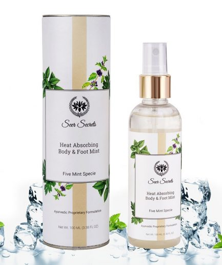 Seer Secrets Five Mint Specie Heat Absorbing Body and Foot Mist heat