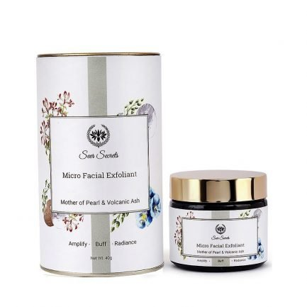 Seer Secrets Mother Of Pearl & Volcanic Ash Facial Exfoliant