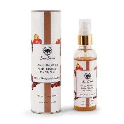 Seer Secrets Facial Cleanser with Lemon Shorea Cinnamon oily-skin hydrate clean skin glow radiant