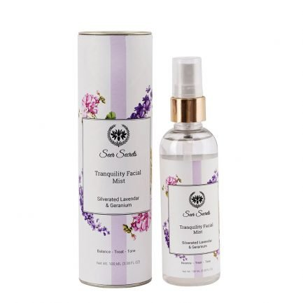 Seer Secrets Tranquility Facial Mist with Silverated Lavender & Geranium tone treat skin face makeup cosmetics