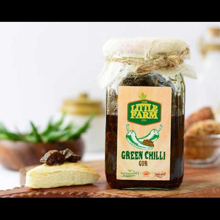 Little Farm Green Chilli Gur Pickle (400gm)