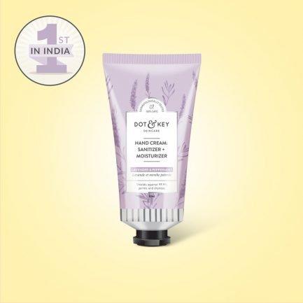 Dot & Key Hand Cream: Sanitizer + Moisturizer (Lavender)