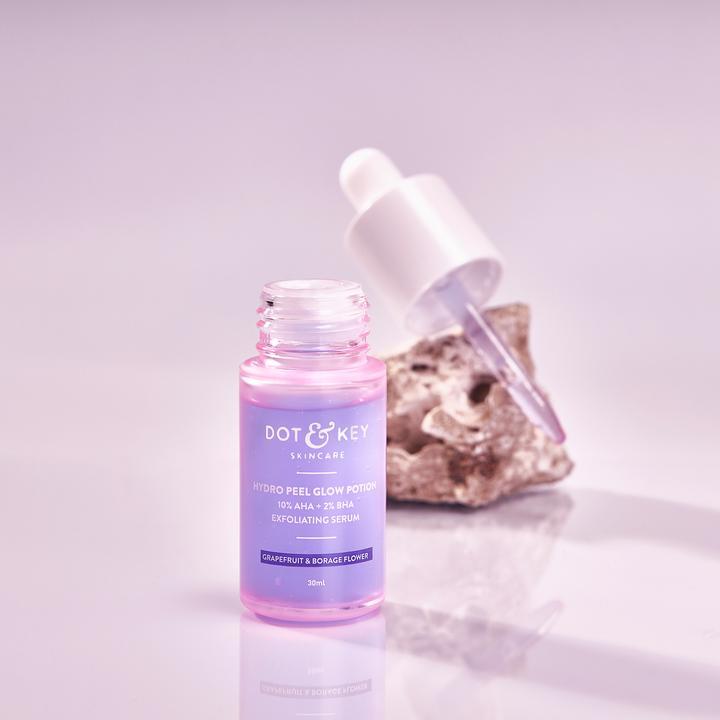 Dot & Key Hydro Peel Glow Potion 10% AHA + 2% BHA Exfoliating Serum (30ml)