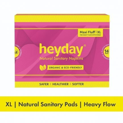 HEYDAY Organic Maxi Fluff Sanitary Pads XL (Pack of 14)