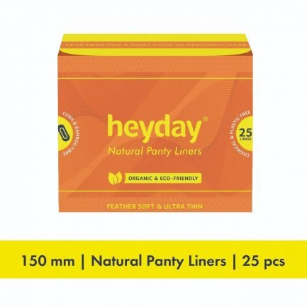 HEYDAY Organic Panty Liners (Pack of 25)