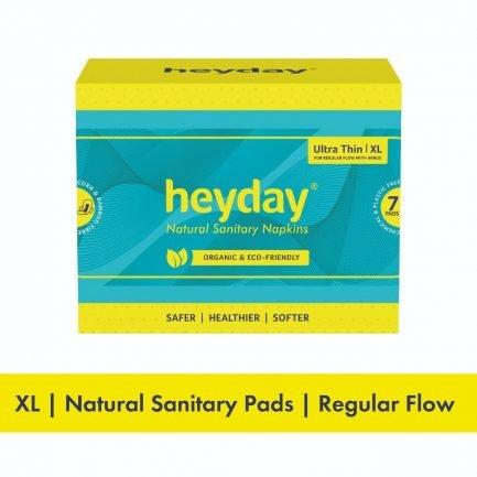 HEYDAY Organic Ultra Thin Sanitary Pads XL (Pack of 7)