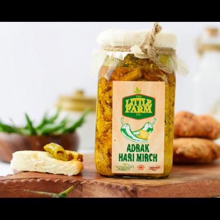 Little Farm Adrak Hari Mirch Pickle (400gm)