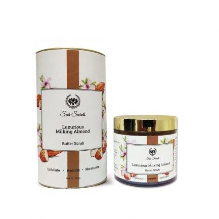 Seer Secrets Luxurious Milking Almond Butter Scrub hydrate cleanse exfoliate