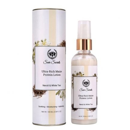 Seer Secrets Ultra Rich Maize Protein Lotion - Neroli & White Tea (100ml) dry skin makeup