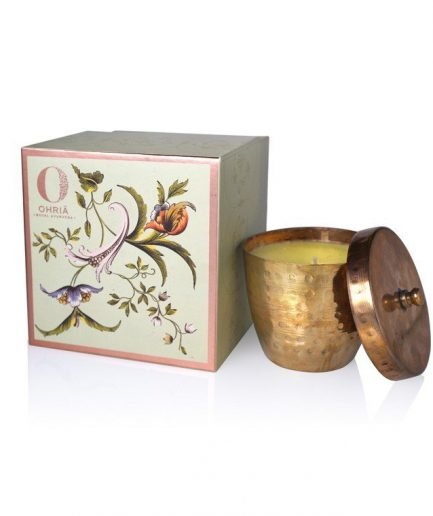Ohria Sandalwood and Kesar Luxury Copper Candle