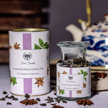 Seer Secrets Aniseed & Basil Green Tea