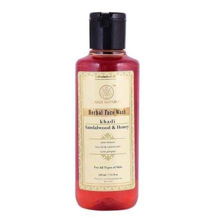 Khadi Sandalwood & Honey Herbal Face Wash (210ml)