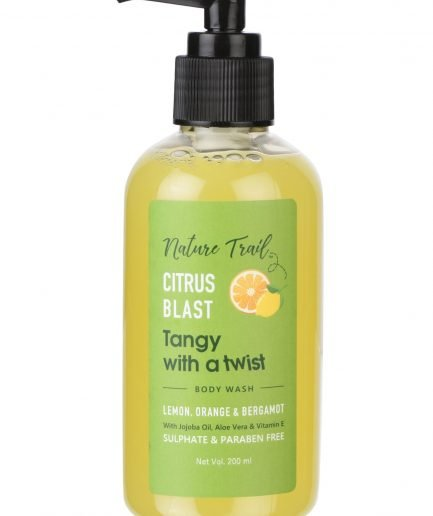 Nature Trail Citrus Blast Organic Body Wash with Jojoba Oil & Aloe
