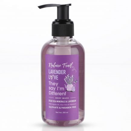 Nature Trail Lavender Love Organic Body Wash with Jojoba Oil & Aloe