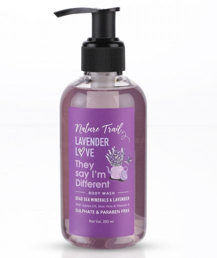 Nature Trail Lavender Love Organic Body Wash with Jojoba Oil & Aloe
