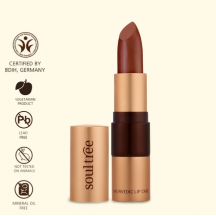 Soultree Lipstick Copper Mine shade colour tone makeup vegan cosmetics