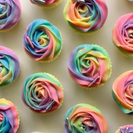 The Saas Bar Rainbow Rose Cupcake Soap