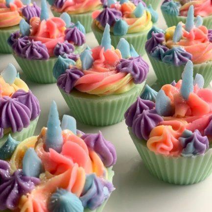 The Saas Bar Rainbow Unicorn Cupcake Soap