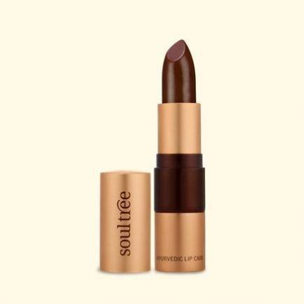 Soultree Lipstick Creamy Cacao smooth glides vegan organic
