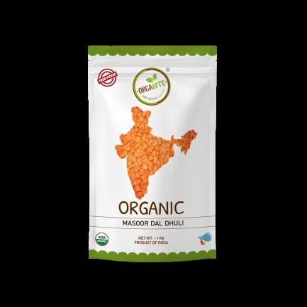 ORGABITE Organic Masoor Dal Dhuli