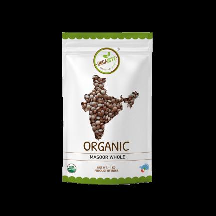 ORGABITE Organic Masoor Dal Whole(Sabut)