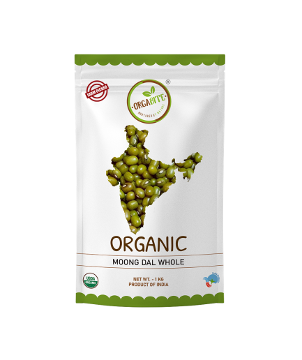 ORGABITE Organic Moong Dal Whole(Sabut)