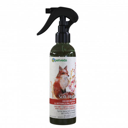 Petveda Soft Hugs Deodorizing Spray - Creamy Sweet Vanilla & Buttery Caramel (250ml)
