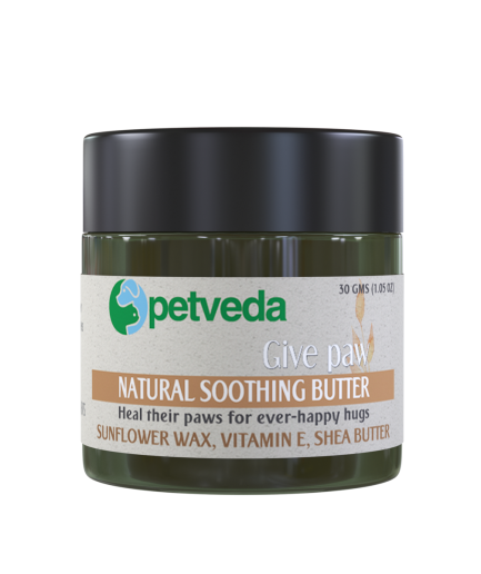 Petveda Give Paw - Natural Soothing Butter Balm for Paw, Nose & Elbow (30gm)