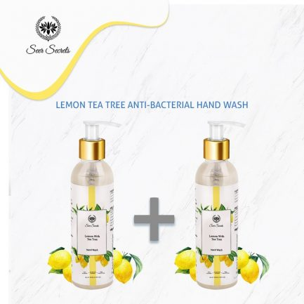 Seer Secrets Lemon Tea Tree Anti-Bacterial HAND WASH DUO