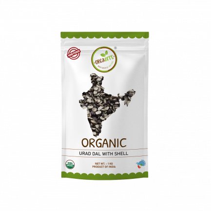 ORGABITE Organic Urad Dal Chilka (with Shell)