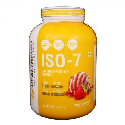 Health Farm ISO 7 Premium Protein Matrix (Caramel Strawberry) (2kg)