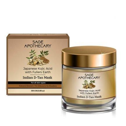 Sage Apothecary Indian D-tan Mask Japanese Kojic Acid (100ml)