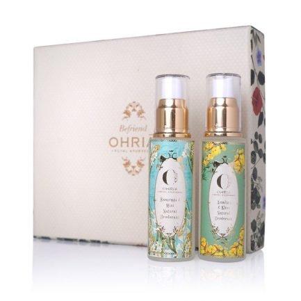 Sugandham - The Fragrance Gift Box (Raatrani and Amaltas Natural Deodorant) Combo